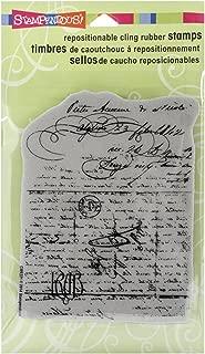 STAMPENDOUS CRR221 Cling Rubber Stamp, Vintage Letter