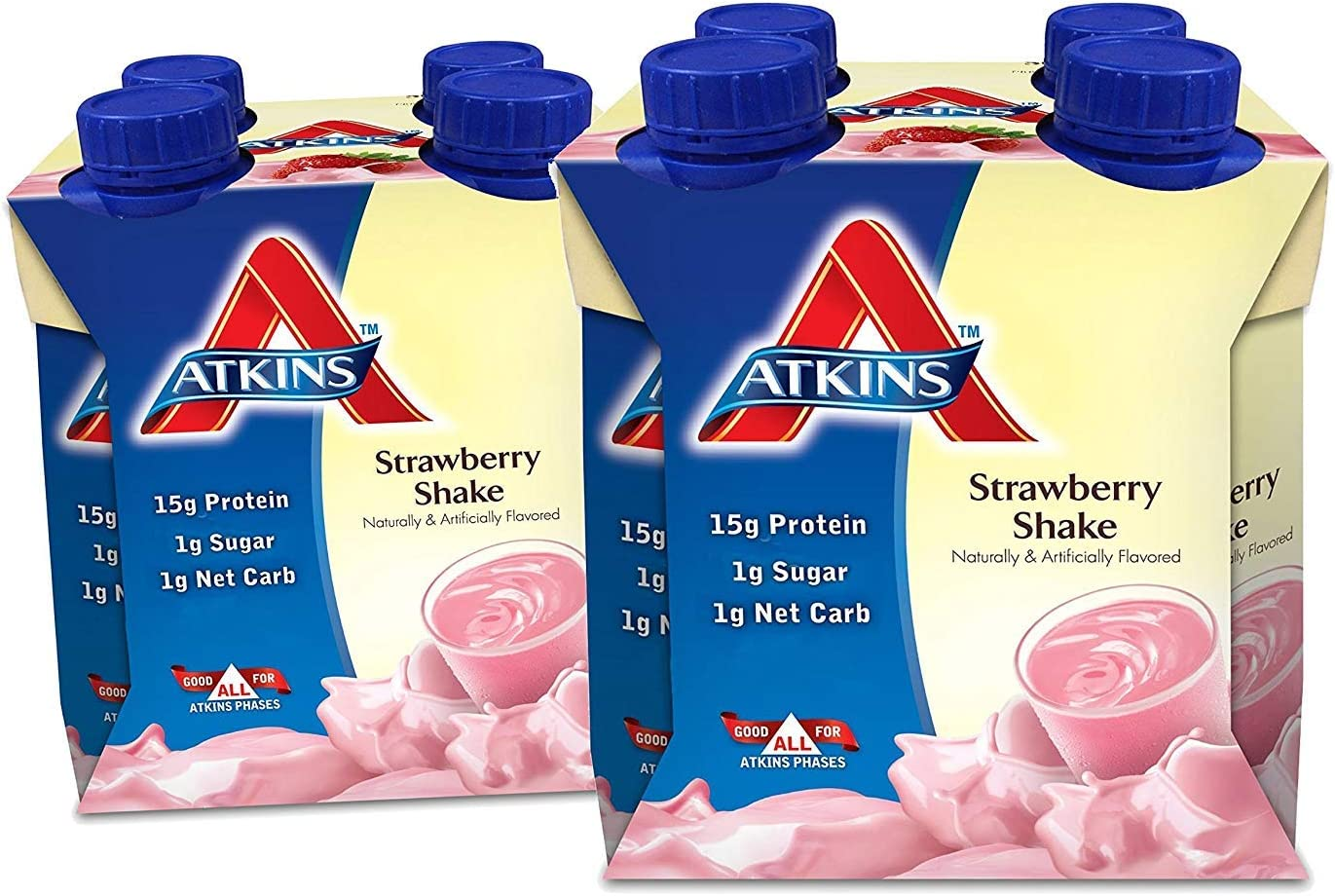 2 Pack Atkins Strawberry Dealing full price reduction Shake 4 per Quantity limited 11 Oz. Cont Count