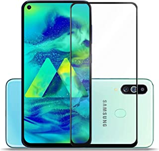 SupCares Premium Edge to Edge Tempered Glass Screen Protector for Samsung Galaxy M40, Samsung Galaxy A60 with Easy Installation Kit (Black) [Pack of 1]