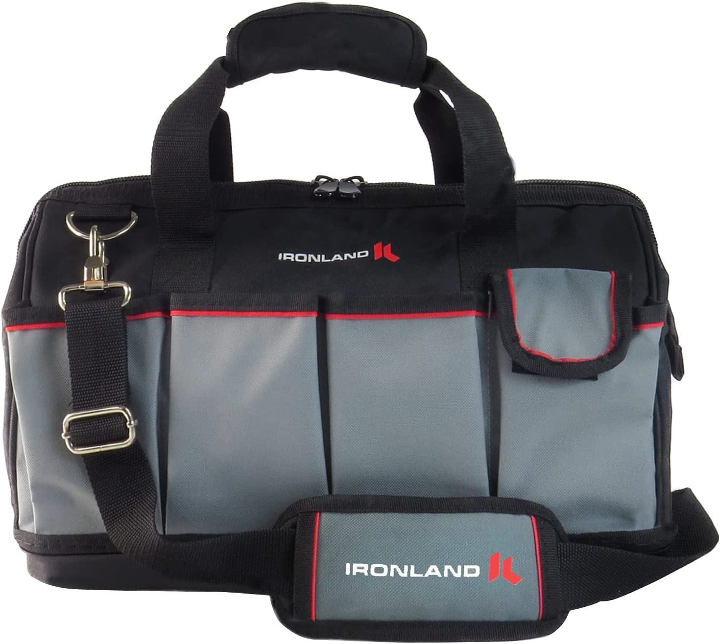 IRONLAND 16-inch Ranking TOP19 Tool Bag Max 51% OFF Wide 14 Multi-Compartment with Mouth