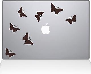 """The Decal Guru 1029-MAC-13A-BRO Butterflies Decal Vinyl Sticker, 13"""" Macbook Air, Brown"""