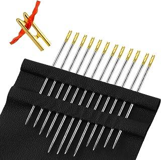 24 Stücke Selbst Einfädeln Nähnadeln Einfache Einfädelnadeln Seite Hand Nähen Nadeln für DIY Handgemacht Nadel Arbeitet Zubehör