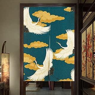 Pueri Cortinas para Ventana Puerta Estilo Japonesa Tipo de Medio Abierto Tamaño 85x120cmTapa para Dormitorio Sala de Estudio (C)