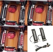 Electra Glo Keystone Auxiliary LED Run/Brake/Turn Lamps for harley FLHTCU rear fender light FLHTK Keystone saddlebag side light FLTRU 14-18