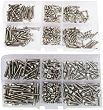 M2 M3 Hex Socket Head Cap Screw Metric Threaded Allen Hexagon Drive Machine Bolt Nut Assortment Kit Set Box 420pcs 304 Stainless Steel