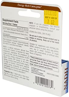 NADH Coenzyme B3 Energy Mental Alertness 5 MG (30 Tablets)