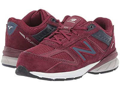 New Balance Kids 990v5 (Infant/Toddler) (Burgundy/Pigment) Boys Shoes