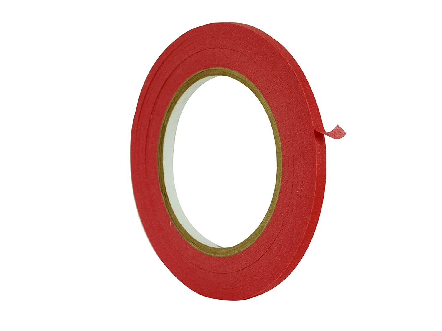 WOD CPM-60 Craft Multi Colored General Purpose Red Masking Tape, for Fun DIY Arts & Crafts, Labeling, Writable & Decorations (Available in Multiple Sizes & Colors): 1/4 in. X 60 Yds (Pack of 1)