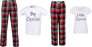 60 Second Makeover Limited Big Spoon Little Spoon Couples Matching Pyjama Tartan Set Couples Twinning Family