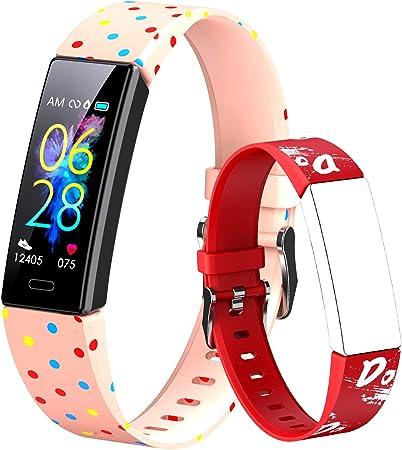 Dwfit Pulsera Actividad Inteligente Reloj Inteligente para Niños Niñas, Impermeable IP68 Deportivo Smartwatch con Podómetro Pulsómetros Monitor de Sueño Contador de Caloría