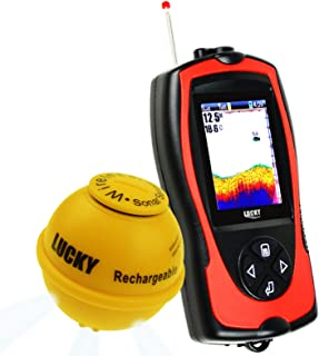 Inalámbrico Sonar Pescado Localizador Ligero Señuelo Sensor Localizador de Peces Mar Pescar 45m Profundidad 100m Operacion...
