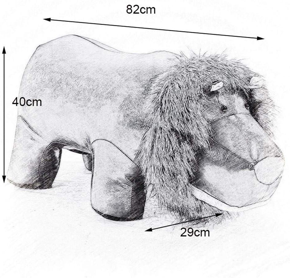 YUMUO Creative Lion Animal Forme Pouf Pouf Cadre en métal Repose-Pieds Repose-Pieds pour Salon avec Siège Souple F0107 (Couleur: Lion Rouge) 1