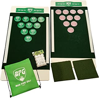 Beer Pong Golf, Portable Backyard, Tailgate, Beach Party, Chip Shot Game Set
