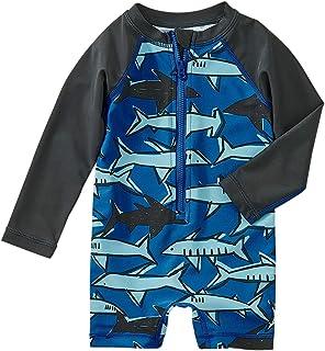 Tea Collection Shortie Rash Guard Swimwear, Boys 12 to 18 Mos, School of Sharks