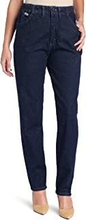 Women's Relaxed-Fit Side Elastic Tapered-Leg Jean