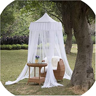 White Tulle Square Top Bed Canopy for Kids 4 Doors Princess Play Tent Lace Netting Bedding Summer Mosquito Nets