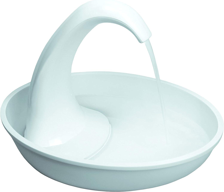 Pioneer Pet Swan Pet Drinking Fountain  80oz Water Capacity