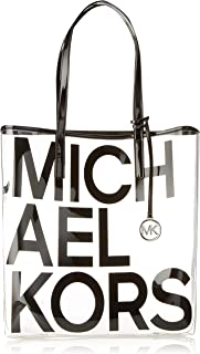 Michael Michael Kors Hayley Clear Large North South Tote Bag in Black