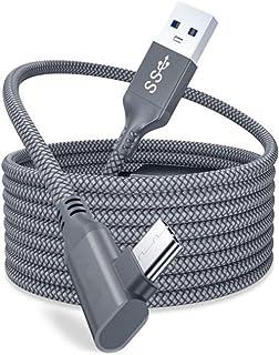Parkomm Cable de carga USB C, cable de conexión de 16 pies de alta velocidad de transferencia de datos tipo C compatible c...