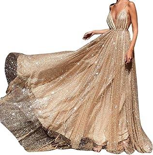 9bba96e755f0d0 Likecrazy Kleid Spitze Frauen reizvolle Damen Elegant lange Rückenfrei  Versuchung Freizeit Maxi Kleid Ärmellos Ballkleid Prinzessin