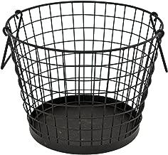Ivyline IWLB Iron Wire Log Basket - Black