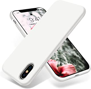 OTOFLY Liquid Silicone Gel Rubber Full Body Protection Shockproof Case for iPhone Xs/iPhone X,Anti-Scratch&Fingerprint Basic-Cases,Compatible with iPhone X/iPhone Xs 5.8 inch (2018), (White)
