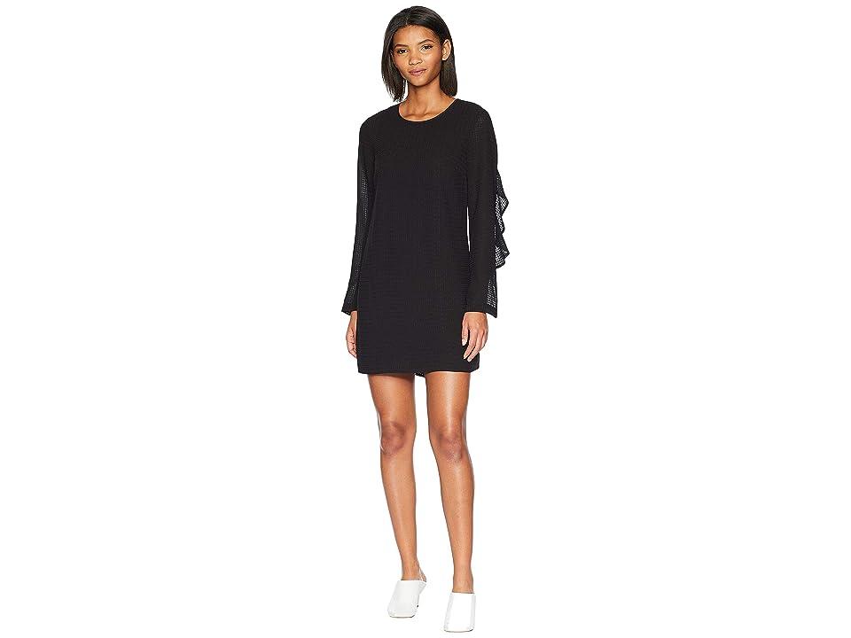 BCBGeneration Sleeve Shift Dress (Black Combo) Women