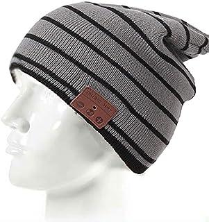 Beanie Hat Headset Music Hat Wireless Over Ear Headphones Knit Hat Stereo Earbuds Handsfree Earpiece Outdoors Sport Earpho...