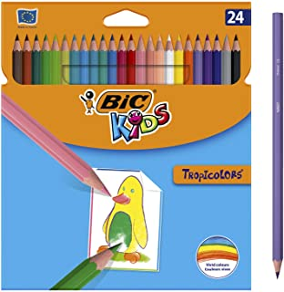 BIC Kids Tropicolors Lápices de Colores (2,9mm) - Colores S
