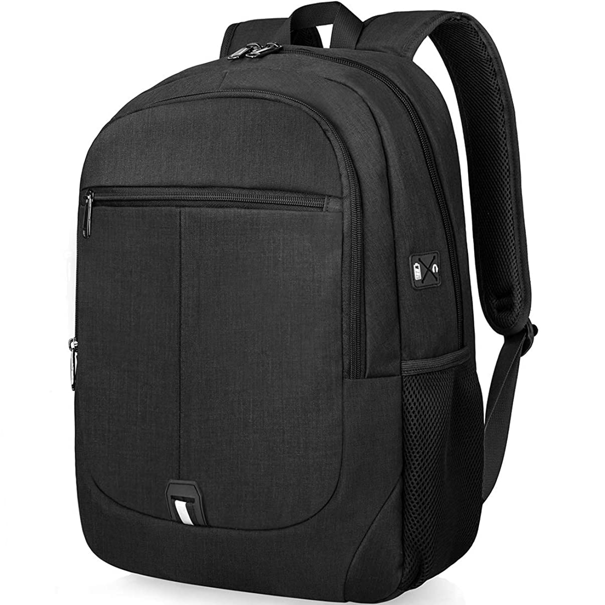 NUBILY Laptop Backpack 15.6 inch School Computer Bag College Students Bookbag Water Resistant Travel Business Backpacks for Men Women Hiking Traveling Carryon Lightweight Daypack Black