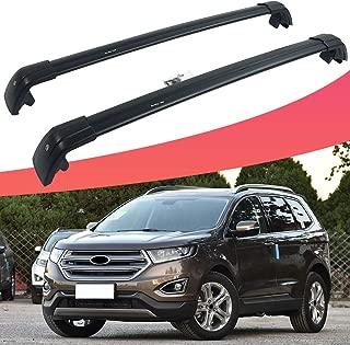 SnailAuto Fit for Ford Edge 2017 2018 2019 Black Roof Rack Rail Adjustable Lockable Cross Bar