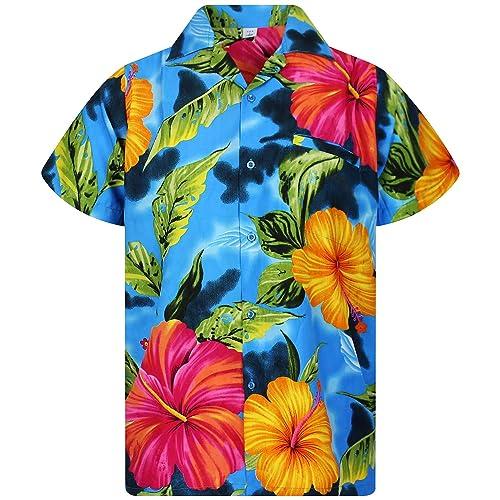 0649a50c V.H.O. Funky Hawaiian Shirt | Men | XS-12XL | Short-Sleeve | Front