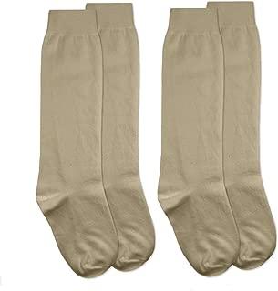 Jefferies Socks Girls School Uniform Cotton Knee High Socks 2 Pair Pack