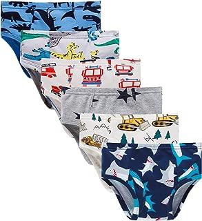 Little Boys Briefs Dinosaur Truck Toddler Kids Underwear (Pack of 6)