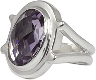 Amethyst .925 Sterling Silver Taxco Ring, Contempo'