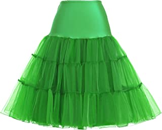 50s Petticoat Skirt Rockabilly Dress Crinoline Underskirts for Women