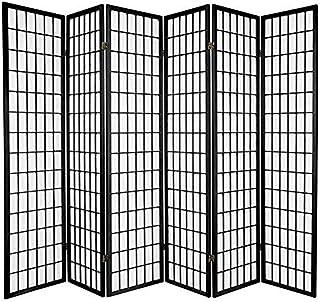 Oriental Furniture 6 ft. Tall Window Pane Shoji Screen -...
