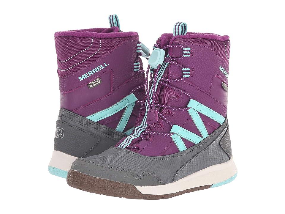 Merrell Kids Snow Bank 3.0 Waterproof (Little Kid) (Purple/Turquoise) Girls Shoes