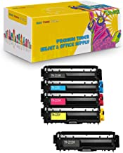 New York Toner Cartridge Replacement Compatible with Brother TN221, TN225 (2 Black, 1 Cyan, 1 Yellow, 1 Magenta, 5-Pack) (TN221 2xB and TN225 1xCYM)