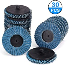 Kelife 30 PCS Flap Disc, 2 Inch T27 Zirconia Alumina Flat Flap Disc Roloc Roll Lock Grinding Sanding Sandpaper Wheels with 1/4 inch Holder, Includes 40/60/80 grits