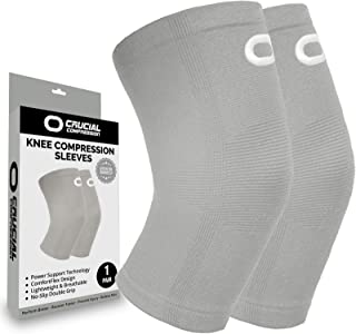 Best Knee Brace Compression Sleeve (1 Pair) - Best Knee Support Braces for Meniscus Tear, Arthritis, Joint Pain Relief, Injury Recovery, ACL, MCL, Running, Workout, Basketball, Sports, Men and Women Review