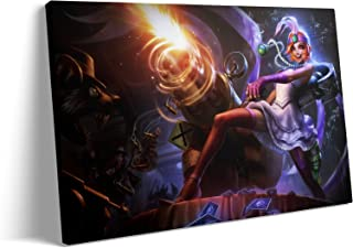 Metal Wall Art for Living Room - The Loose Connon Crime City Jinx Marksman MOBA Game Poster : Canvas Prints Art for Hallwa...