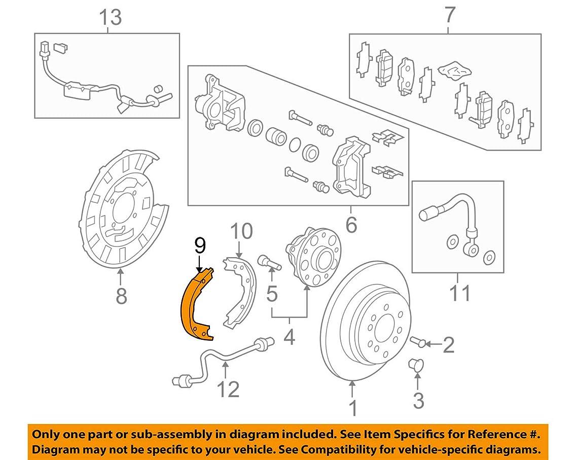 Genuine Honda (43153-STX-A01) Parking Brake Shoe