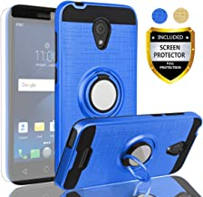 AYMECL Alcatel Verso Case,IdealXcite/CameoX 5044R/Alcatel U50 Case with HD Screen Protector,360 Degree Rotating Ring Holder Dual Layer Full-Body Protective Cases Cover for Alcatel 5044R-ZR Blue