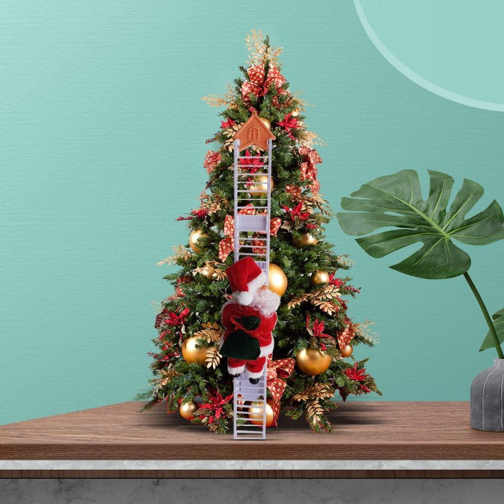 Christmas Electric Climbing Santa Claus on Ranking TOP20 Doll San Antonio Mall Plush Xmas Ladde