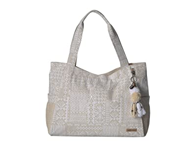 Sakroots Artist Circle Patomac Tote (White Tribal Beauti) Tote Handbags