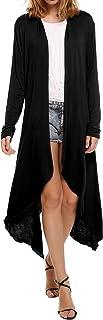 Meaneor Women's Casual Long Sleeve Cardigan Sweater Asymmetric Lightweight Long Open Front S-XXL