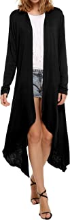 Long Cardigan Sweaters for Women, Women's Waterfall Asymmetric Long Open Front Drape S-XXL