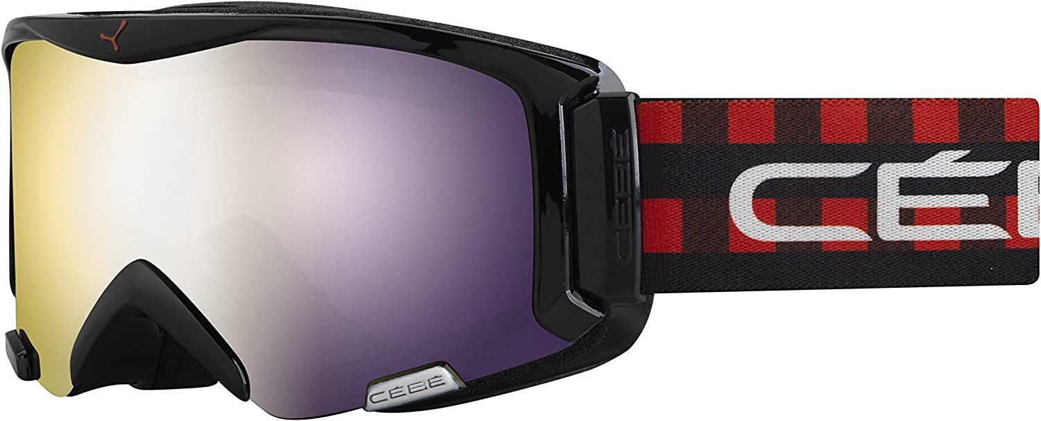 CEBE SUPER BIONIC GOGGLES (RED SQUARE FRAME & LIGHT pink FLASH gold LENS)