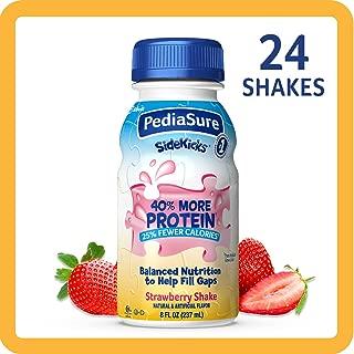 PediaSure SideKicks, High Protein Nutrition Shake for Kids, Strawberry, 8 fl oz (Pack of 24)